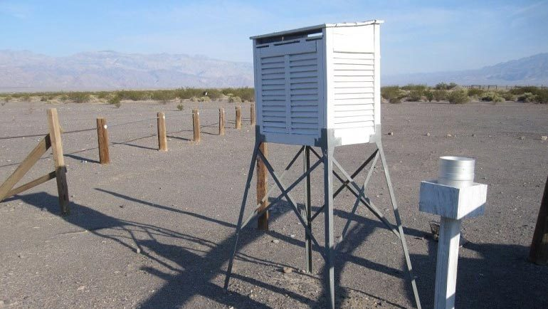 Wetterstation im Death Valley
