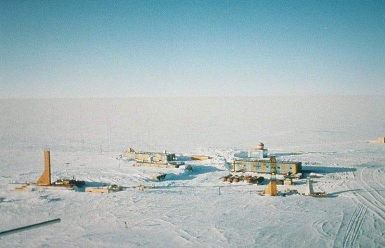 Die Forschungsstation Wostok in derAntarktis