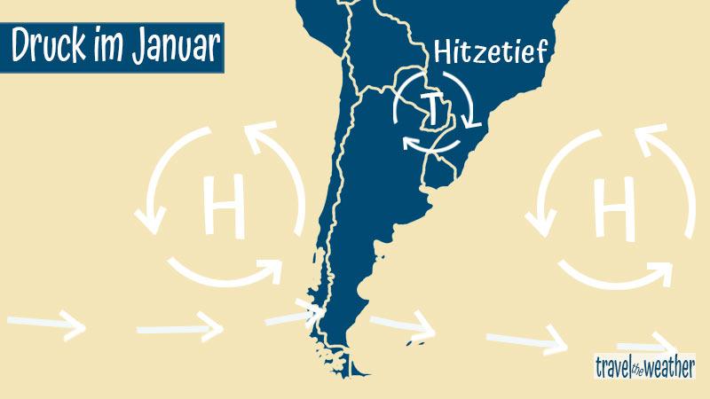 Druckverteilung in Patagonien