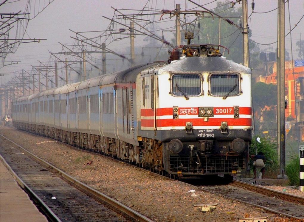 Zug der indischen Bahn