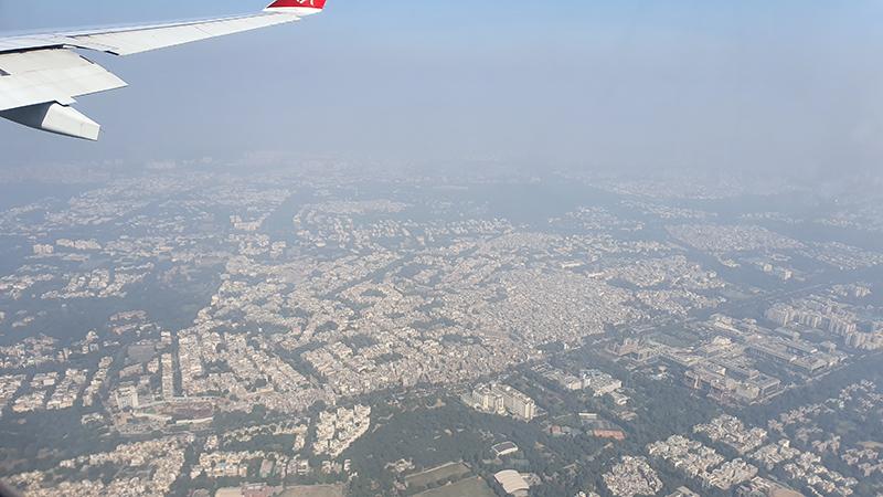 Blick auf Delhi