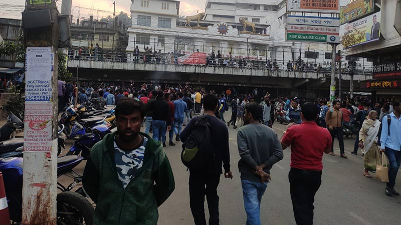 Proteste in Guwahati am 11. Dezember