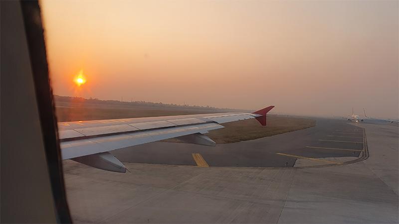Dunstglocke am Flughafen Delhi