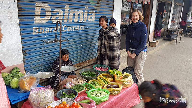Gemüse Meghalaya, Markt in Indien