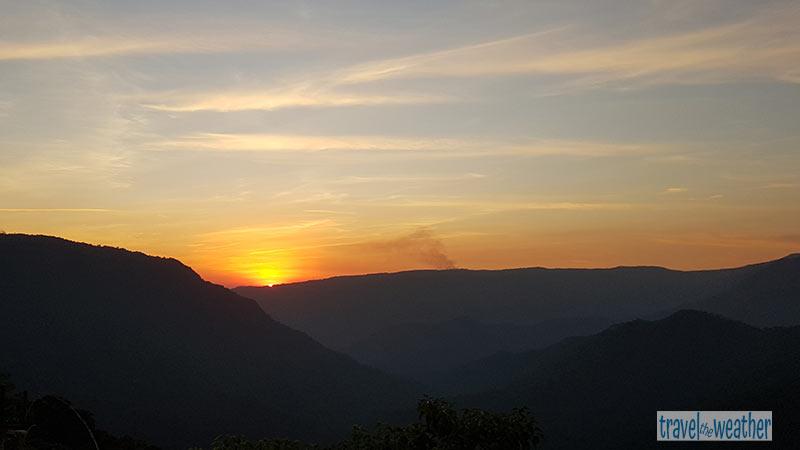 sonnenuntergang Tyrna Smoky Falls
