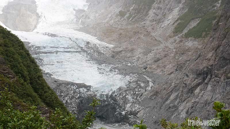 Wir haben einen guten Blick auf die Gletscherzunge.