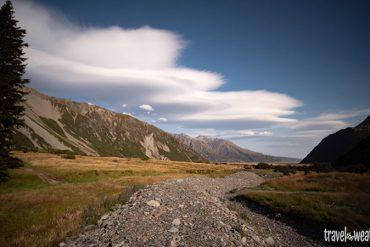 Beeindruckende Föhnwolken vom White Horse Hill Camp aus gesehen.