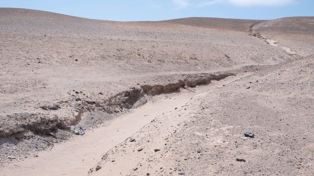 Hier floss das Wasser beim Regen in 2015.